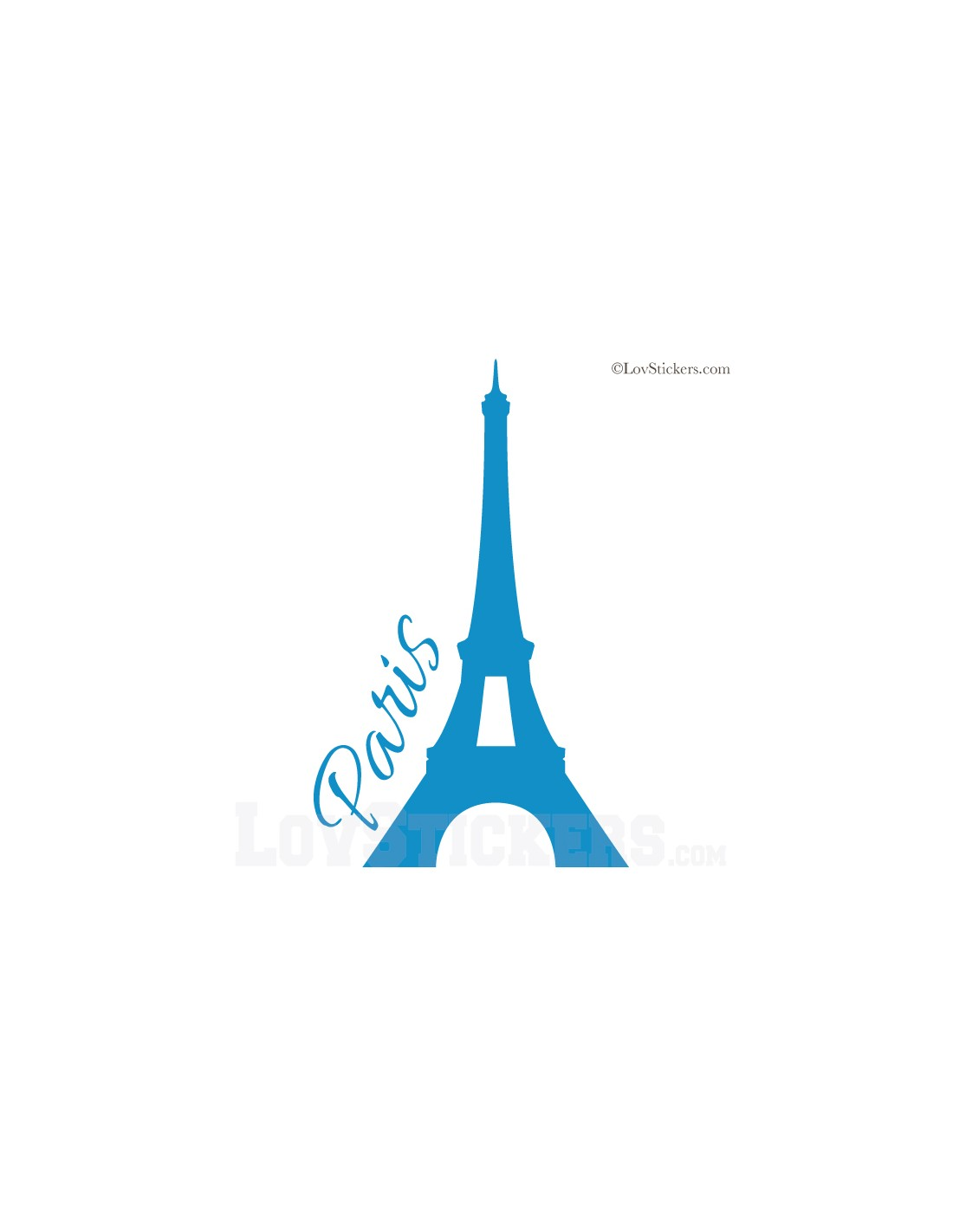 Sticker de d coration paris tour eiffel for Stickers tour eiffel chambre