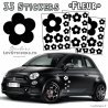 33 Stickers Fleur - Deco auto voiture