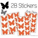 28 Stickers Papillons 5 et 4cm - Décoration modèle 1