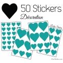 50 Stickers Coeurs 5CM 3CM 2CM - Décoration maison