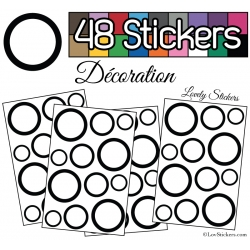 48 Ronds Creux Mixte Stickers - Autocollant de decoration