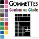 744 Gommettes Kit Carrés No1 - Gommette - Autocollant