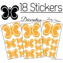 18 Papillons Design 10CM à 4CM - Autocollant décoration