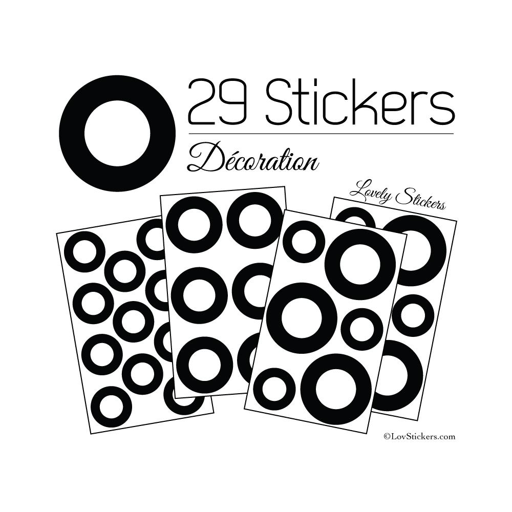 29 Ronds Creux Mixte Stickers - Autocollant décoration