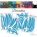 Kit Peau de Zèbre - Stickers Autocollant - Serie Animaux 01