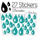 27 Gouttes d'eau Mixte Stickers - Autocollant