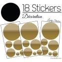 Stickers 18 Ronds Mixte - Decoration Intérieur