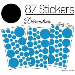 87 Stickers Ronds - Autocollant deco Ronds Pleins