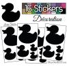 16 Stickers Canards - Autocollant Décoration Intérieur