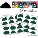 24 Stickers Nuage Mixte - Autocollant Décoration Intérieur