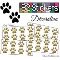 32 Stickers Empreintes de Chat - Autocollant Décoration Intérieur