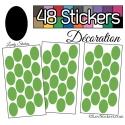 48 Stickers Ovale 4 cm - Autocollant Décoration Intérieur