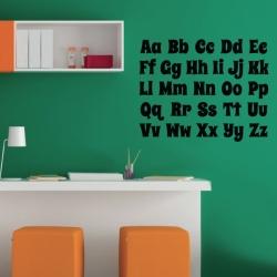 Sticker Alphabet - 2 tailles Disponibles - Décoration murale éducative