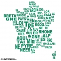 Sticker Regions de France - Décoration intérieur en Vinyle - Nombreux coloris