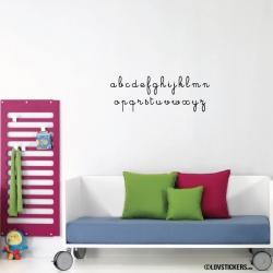 Sticker Alphabet - 2 tailles disponibles - Decoration Murale éducative