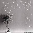 38 Stickers flocons de neige - Autocollant Décoration de Noel