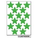 120 Etoiles 2 cm - Gommette Deco Repositionnable en Vinyle