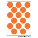 120 Stickers Ronds 1,8 cm - Décoration Gommette Loisirs - Vinyle Repositionnable