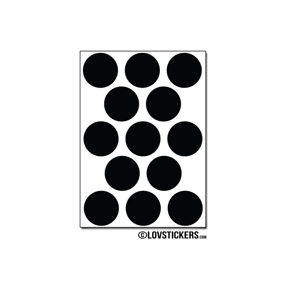 104 Stickers Ronds 2 cm - Décoration Gommette Loisirs - Vinyle Repositionnable