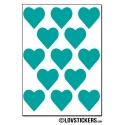 104 Stickers Coeur 2cm - Décoration Gommette Loisirs - Vinyle Repositionnable
