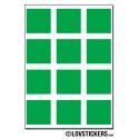 96 Carrés 2cm - Gommette Deco - Repositionnable - Vinyle