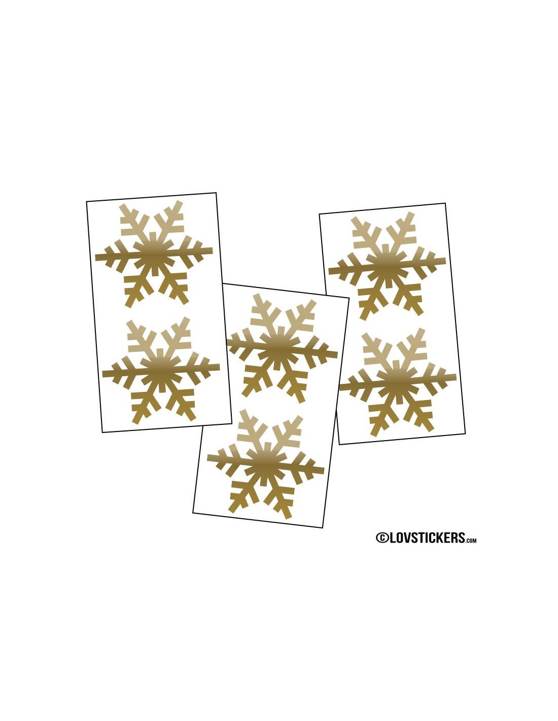 6 Sticker De Decoration Hiver 10cm Flocon De Neige