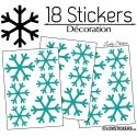 18 Stickers flocons de neige - Autocollant Décoration de Noel