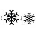 16 Stickers flocons de neige - Autocollant Décoration de Noel