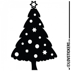 Sticker Sapin de Noel - Décoration intérieur en Vinyle - Nombreux coloris