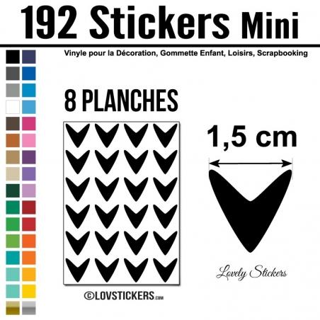 192 Flèches 1,5 cm - Gommette Deco - Repositionnable
