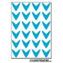 192 Flèches 1,5 cm - Gommette Deco - Repositionnable - Vinyle