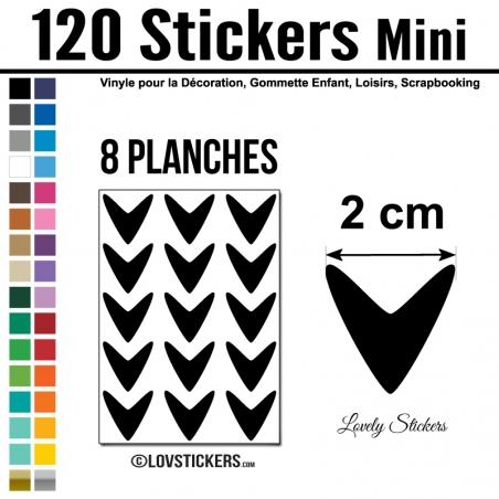 120 Flèches 2 cm - Gommette Deco - Repositionnable