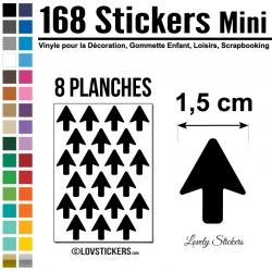 168 Flèches 1,5 cm - Gommette Deco - Repositionnable