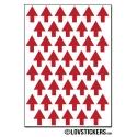 352 Flèches 1 cm - Gommette Deco - Repositionnable - Vinyle