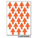 168 Flèches 1,5 cm - Gommette Deco - Repositionnable - Vinyle