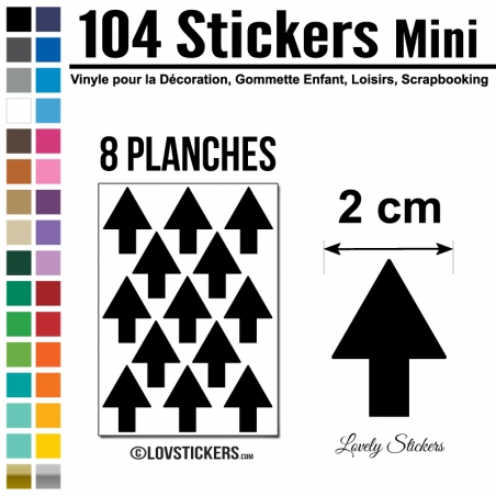 104 Flèches 2 cm - Gommette Deco - Repositionnable