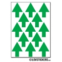104 Flèches 2 cm - Gommette Deco - Repositionnable - Vinyle