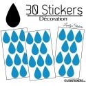 30 Gouttes d'eau Mixte Stickers - Autocollant