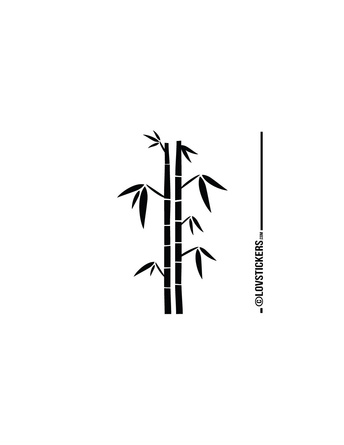 Sticker Bambou – Oveetech.com