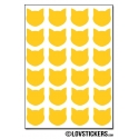 192 chats 1,5 cm - Gommette Deco - Repositionnable