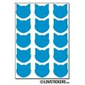 120 chats 2 cm - Gommette Deco - Repositionnable