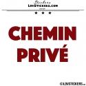 Sticker CHEMIN PRIVÉ - Lot de 2 - Lettrage à coller