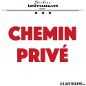 Sticker CHEMIN PRIVÉ - Lot de 2 - Lettrage à coller