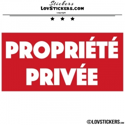 Sticker PROPRIÉTÉ PRIVÉE sur fond - Lot de 2 - Lettrage à coller