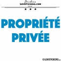 2 Sticker PROPRIÉTÉ PRIVÉE - Lot de 2 - Lettrage à coller