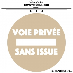 2 Stickers VOIE PRIVÉE sur fond - Lot de 2 - Lettrage à coller