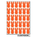 240 lapins de 1 cm - Gommette Deco - Repositionnable