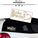 Sticker Bébé à Bord cœur - Sécurité enfant voiture