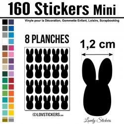 160 lapins de 1,2 cm - Gommette Deco - Repositionnable