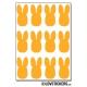 96 lapins de 1,5 cm - Gommette Deco - Repositionnable